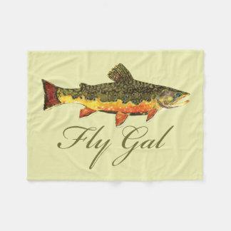 Women's Trout Fishing Fleece Blanket