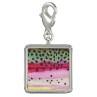 Women's Trout Fishing Photo Charms