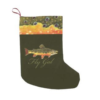 Women's Trout Fishing Small Christmas Stocking