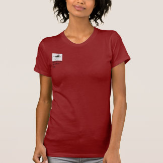 Women's tshirt, red, with JC logo T-Shirt