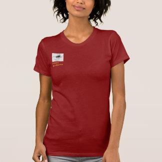 Women's tshirt, red, with JC logo T-shirt