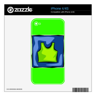 WOMEN'S TSHIRT SHIRT SLEEVELESS ATHLETIC TOP SURF DECALS FOR THE iPhone 4