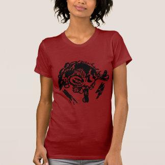 Women's Urban style black stencil tshirts