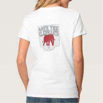 Women's V-neck Save the Elephants T-Shirt