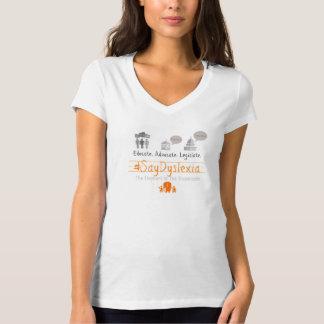 Women's V-Neck Short-Sleeved #SayDyslexia T-Shirt