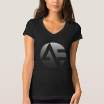 Women's V-neck - Silver AF T-Shirt