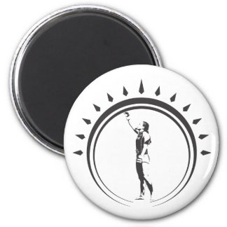 WOMENS VICTORY CROWN.ai 2 Inch Round Magnet