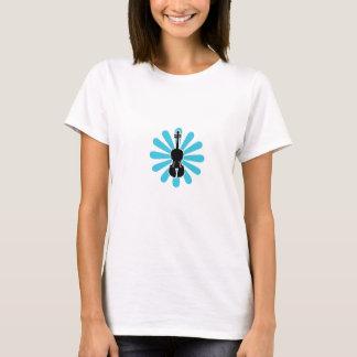 Women's Violin T-Shirt-Daisy Blue T-Shirt
