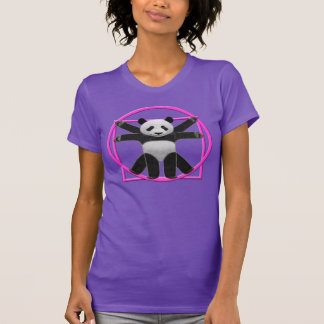 Womens Vitruvian Panda Tee In Purple & Pink