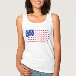 Women's Vizsla American Flag Tank