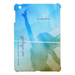women's volleyball at the beach sand surf sky iPad mini cases