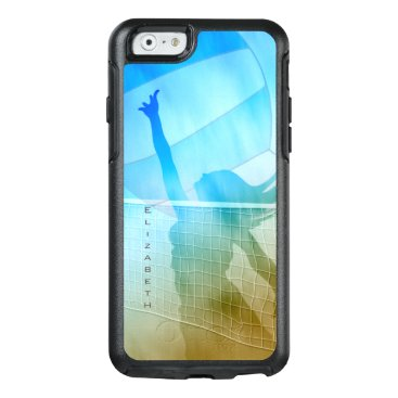 women's volleyball at the beach sand surf sky OtterBox iPhone 6/6s case