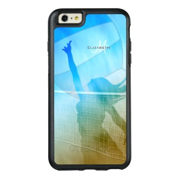Beach Themed women's volleyball at the beach sand surf sky OtterBox iPhone 6/6s plus case