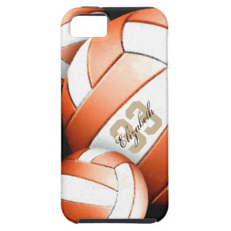Women's Volleyball orange white black iPhone SE/5/5s Case