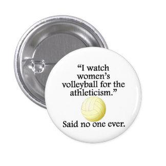Women's Volleyball Pinback Button