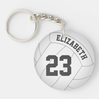women's volleyball player team name backpack tag keychain