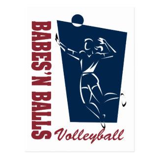 Women's Volleyball Postcard