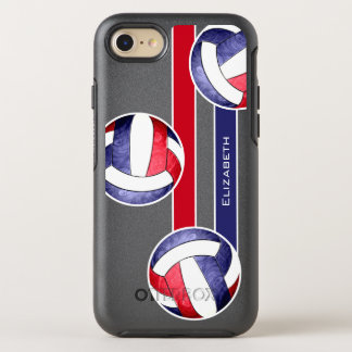 women's volleyball red white blue OtterBox symmetry iPhone 7 case