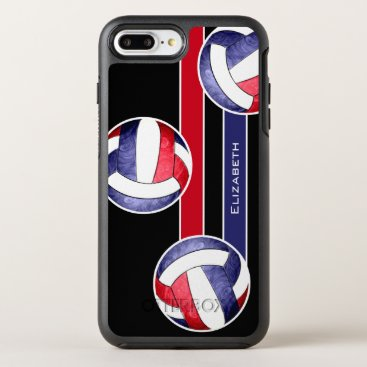 USA Themed women's volleyball red white blue OtterBox symmetry iPhone 7 plus case