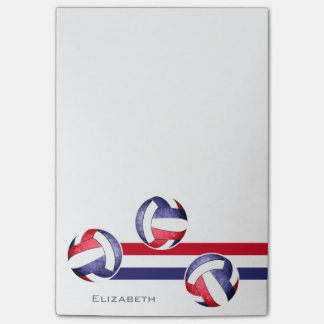 women's volleyball red white blue post-it notes