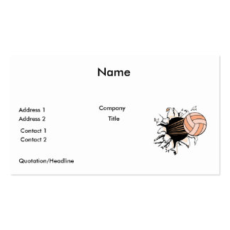 womens volleyball ripping through Double-Sided standard business cards (Pack of 100)
