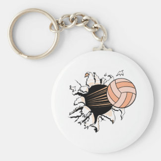 womens volleyball ripping through key chains