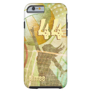 Women's Volleyball sunny gold green Tough iPhone 6 Case
