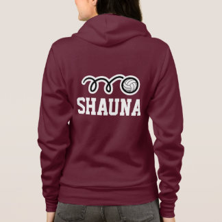 Women's volleyball team   player hoodies with name