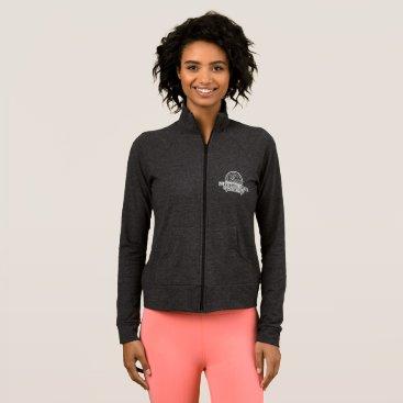 Beach Themed Women's Warmup Jacket - GREY