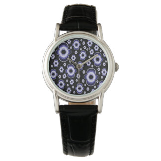 Women's Watch with Flowery Floating Dipole Face