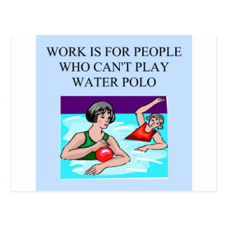 women's water polo postcard