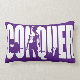 Women's Weightlifting Motivation - CONQUER Throw Pillow