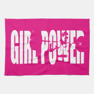 Women's Weightlifting Motivation - Girl Power Hand Towels