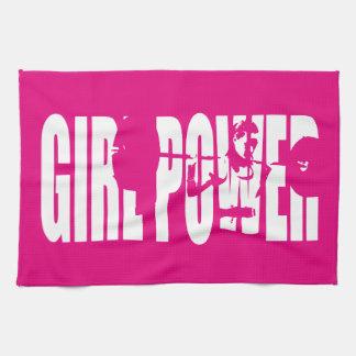 Women's Weightlifting Motivation - Girl Power Kitchen Towel