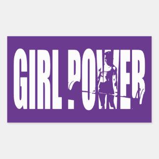 Women's Weightlifting Motivation - Girl Power Rectangular Sticker