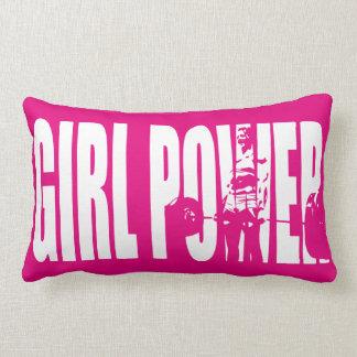 Women's Weightlifting Motivation - Girl Power Throw Pillow