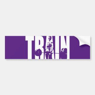 Women's Weightlifting Motivation - TRAIN Bumper Sticker
