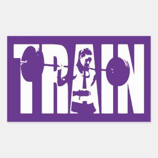 Women's Weightlifting Motivation - TRAIN Rectangular Sticker