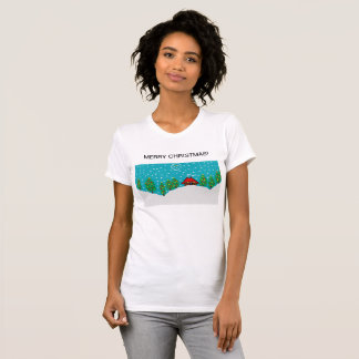 womens white christmas t shirt
