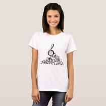 Women's White Musical T-shirt