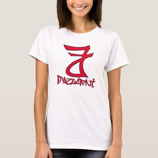 Womens White T T-Shirt