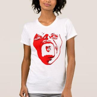 Women's white v-neck with Red Scream T-Shirt