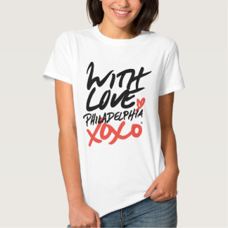 Women's With Love, Philadelphia XOXO T-Shirt