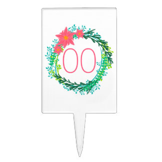 Women's Wreath 18th 21st 30th 40th 50th Birthday Cake Topper
