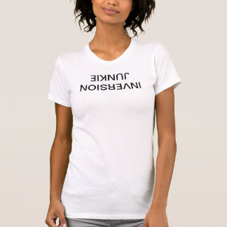 "Women's Yoga Top - ""Inversion Junkie"" T-shirt"