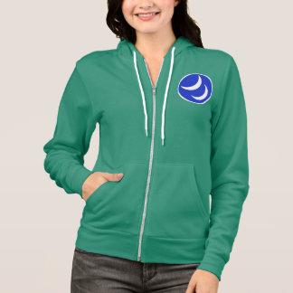 Women's zip hoodie, mermaid green hoodie