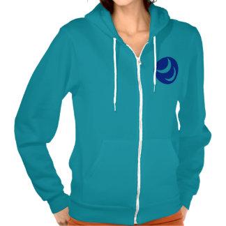 Women's zip hoodie, mermaid green