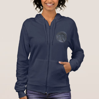 Women's Zip Hoodie w. French Coin 10 Centimes 1913
