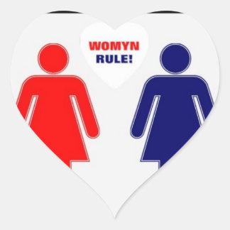 WOMYN RULE! HEART STICKER