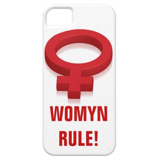 WOMYN RULE! iPhone SE/5/5s CASE